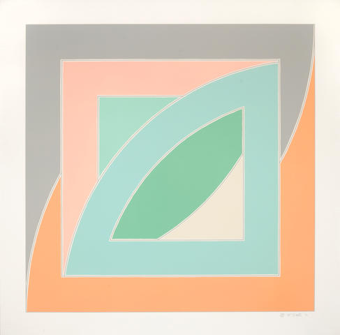 Frank Stella (born 1936); River of Ponds IV, from Newfoundland Series;