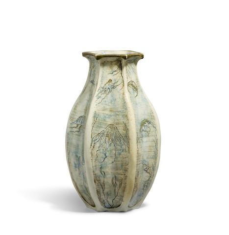 A Martin Brothers glazed-porcelain Jellyfish vase 1900