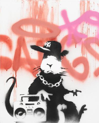 Banksy (British, born 1975) Gangsta Rat<BR />