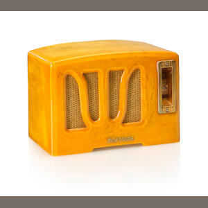 An RCA 350 W Grille, yellow and white. 1938