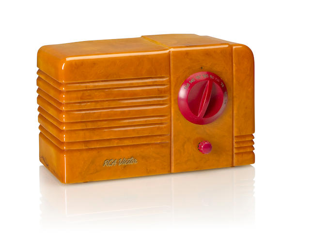 An RCA 9TX Little Nipper, yellow and red<BR />1939