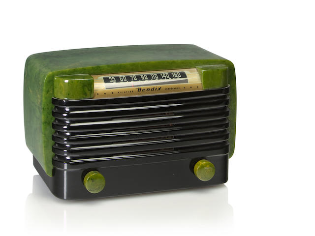 A Bendix 526C, emerald and black<BR />1946