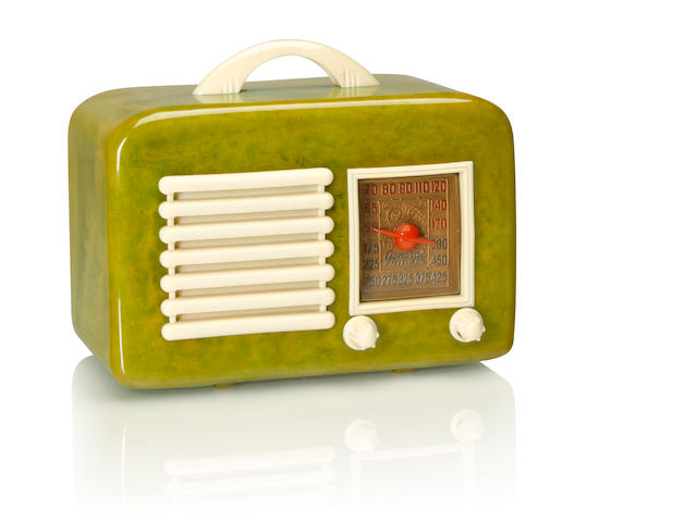 A General Television 591, green and white<BR />1940