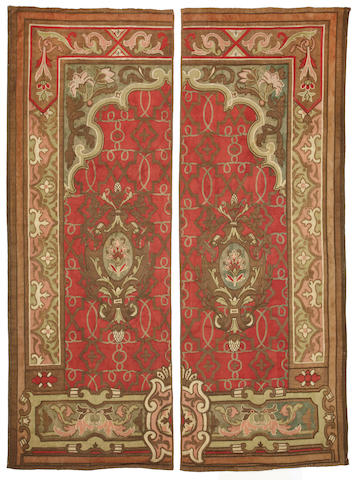 A Continental Baroque style two section tapestry<BR /> 19th century