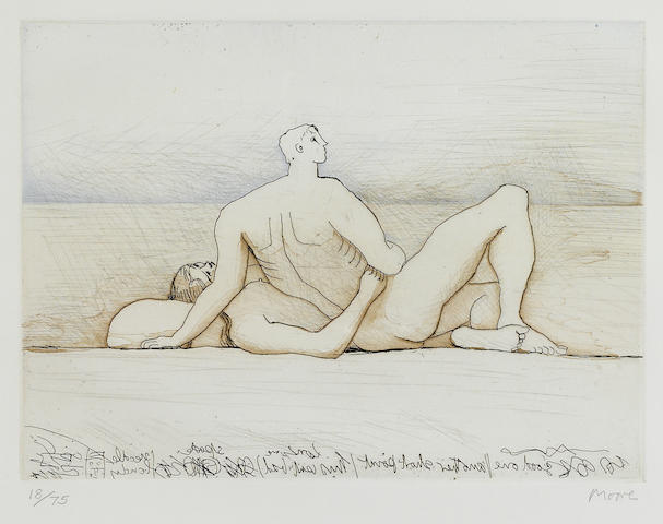 Henry Moore (1898-1986); Reclining Figures Man and Woman I;