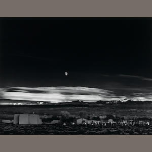 Ansel Adams (1902-1984); Moonrise, Hernandez, New Mexico;