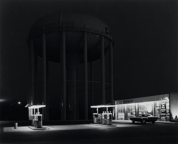 George Tice (born 1938); Petit's Mobil Station, Cherry Hill, New Jersey;