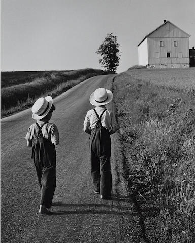 George Tice (born 1938); Two Amish Boys, Lancaster, Pennsylvania;