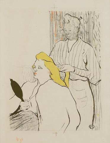 Henri de Toulouse-Lautrec (1864-1901); Le Coiffeur-Programme du Théâtre Libre;
