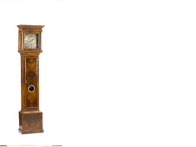 A Queen Anne walnut 30 day tall case clock