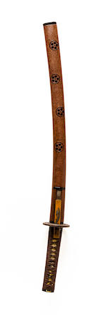 An Uda school wakizashi in mounts Muromachi period (16th century)