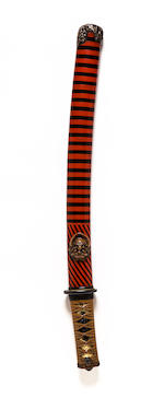 A shinshinto tanto in mounts Edo period (late 18th-19th century)