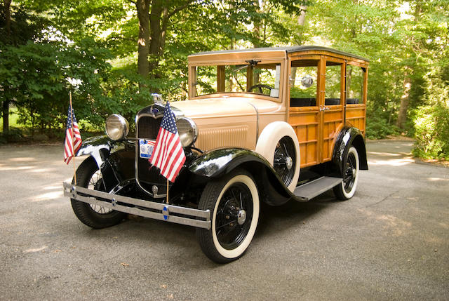 Sold to benefit the St. Nicholas Fund, ex-Tom Monaghan,1930 Ford Model A Station Wagon  Engine no. A2885703