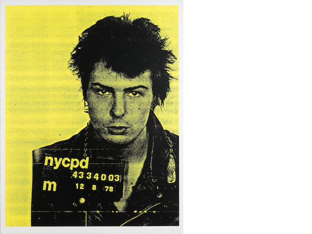 Russell Young (born 1960); Sid Vicious, from Mugshot Series;