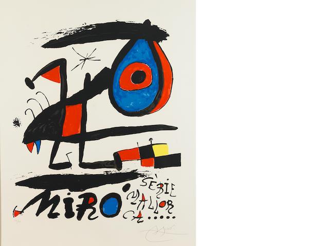 Joan Miró (1893-1983); Poster for the exhibition 'Sèrie Mallorca';