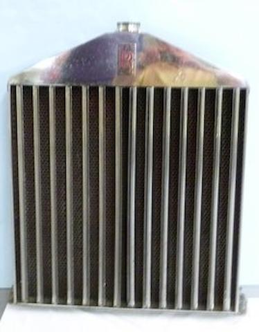 A good Rolls-Royce 20/25 radiator with German Silver cover, pre 1933,