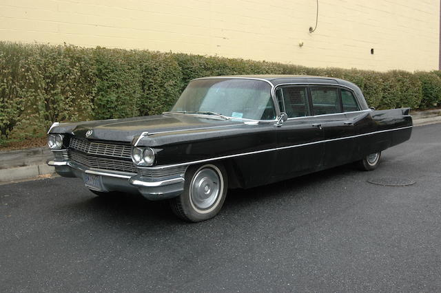 Formerly party of the White House motor pool, used by President Lyndon B. Johnson and Secretary of State Henry Kissinger,1965 Cadillac Fleetwood Series 75 Limousine  Chassis no. S5154317