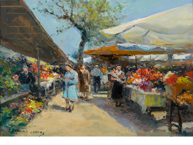 Edouard Cortes, Marche des Fleurs.  Private Collection, Encinitas, CA.  Wally Findlay Gallery, N.Y.