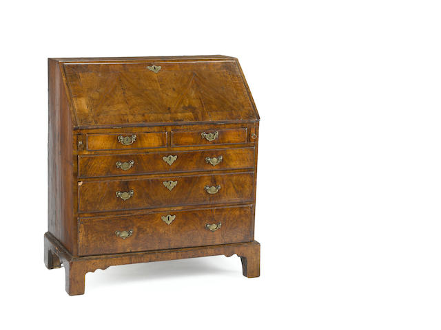 A George II walnut desk <BR />mid 18th century