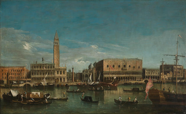 Master of the Langmatt Foundation Views The Bacino di San Marco, Venice 30 x 48 1/4in (76.2 x 122.5cm)