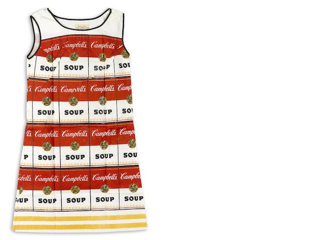After Andy Warhol (1928-1987); Souper Dress;
