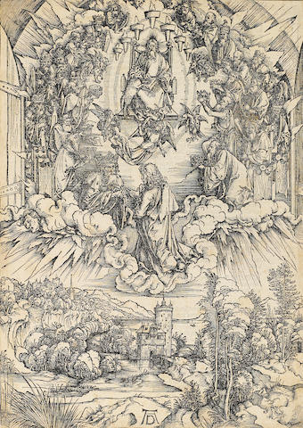 Albrecht Dürer (1471-1528); St. John before God and the Elders, from The Apocalypse;