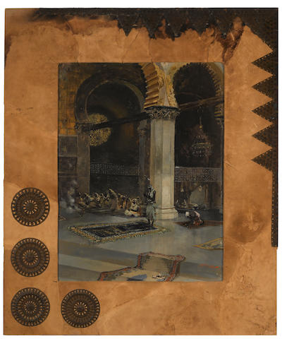 Lagartos (19th Century) In the mosque; The Alhambra, Granada (a pair) 25 3/4 x 19 3/4in (65.4 x 50.2cm)