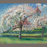 Bernhard Klene (1870-1930) Trees in bloom 21 1/2 x 25 3/4in (54.6 x 65.3cm)
