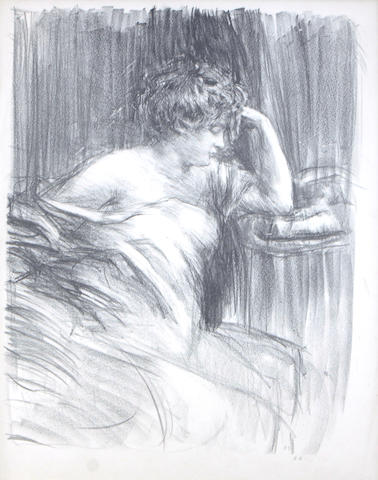 Albert de Belleroche (British, 1864-1944); Meditation (Lili);