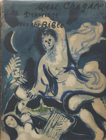 CHAGALL, MARC. 1887-1985. Drawings for the Bible. New York: Harcourt, Brace and Company, [1960].