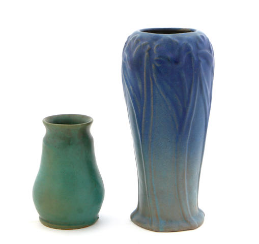 A Van Briggle glazed pottery vase and another Art Pottery vase