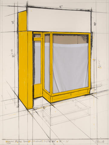 Christo (born 1935); Yellow Store Front, Project;