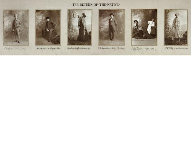 [HARDY, THOMAS—GERTRUDE BUGLER.] Assemblage of 6 Photographs of Hardy Players in The Return of the Native,