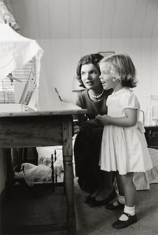 Alfred Eisenstaedt (1898-1995); Jacqueline Kennedy and Daughter, Caroline, Hyannisport;