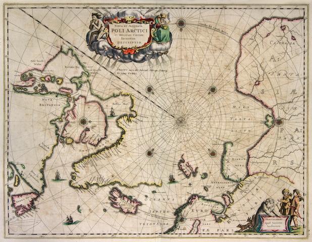 JANSSONIUS, JOANNES. 1588-1664. Cinquiesme parte du Grand Atlas, contenant une parfaicte description du monde maritime. Amsterdam: Jansson, 1650.<BR />