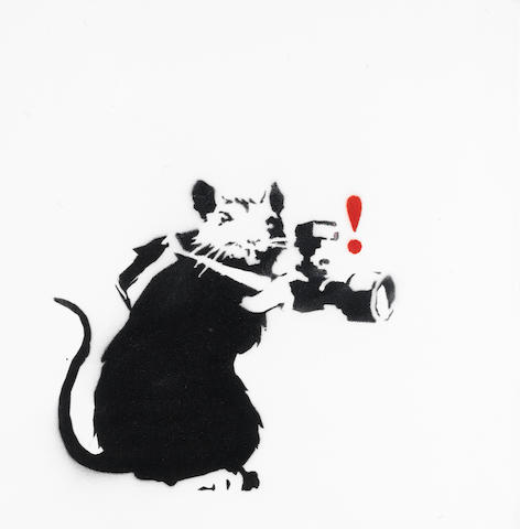 Banksy (British, born 1975) Paparazzi Rat<BR />