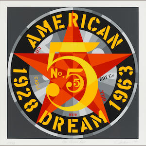 Robert Indiana (born 1928); American Dream #5 (The Golden Five); (5)