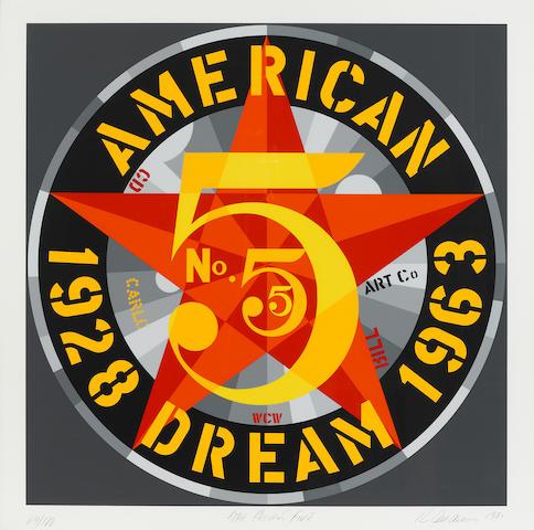 Robert Indiana (born 1928); American Dream #5 (The Golden Five); (5)