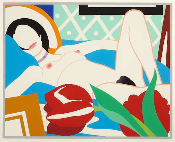 Tom Wesselmann (1931-2004); Monica with Tulips;