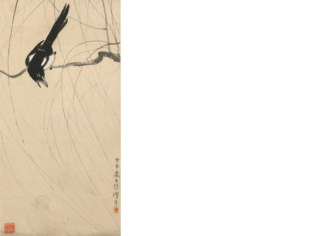 Xu Beihong (1895-1953)  Magpie on a Willow Branch