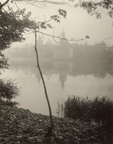 Josef Sudek (1896-1976); Prague, View from Kampa Island-Toward Charles Bridge, Smetana Museum and Norotny's Foot Bridge;