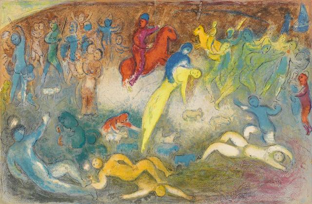 Marc Chagall (1887-1985); Enlèvement de Chloé, pl. 19, from Daphnis et Chloé;