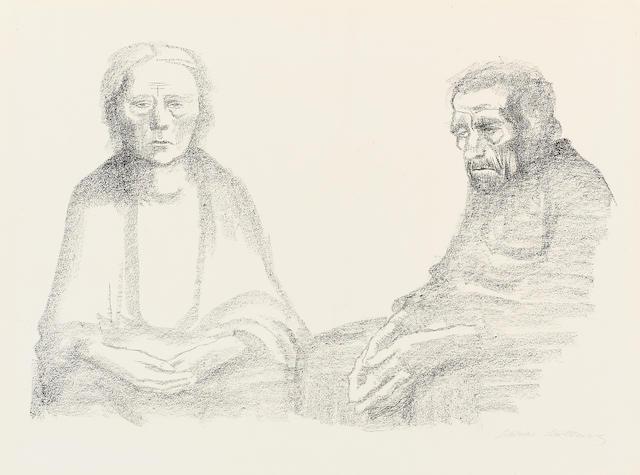 Käthe Kollwitz (1867-1945); Die Eltern;