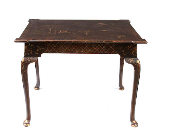 A George III style chinoiserie decorated games table
