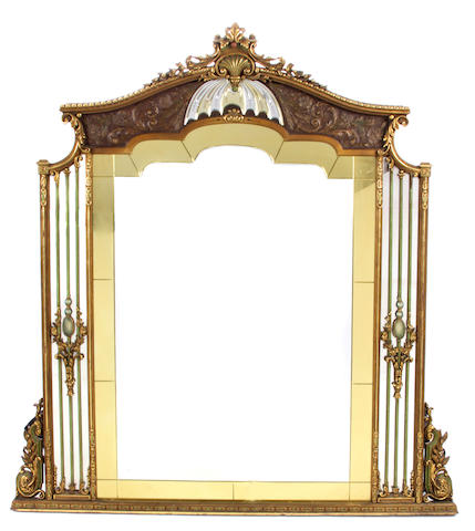 A Belle Époque style paint decorated mirror