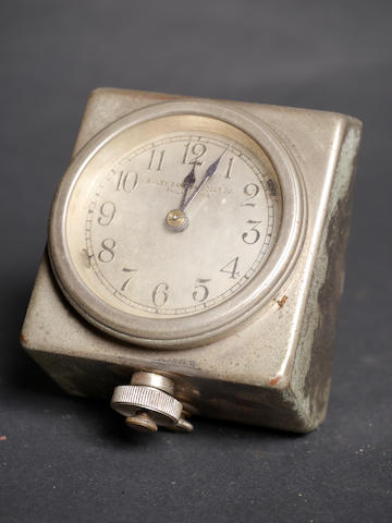 Bonhams A Good 8 Day Nickel Plated Car Clock By Bailey Banks Biddle