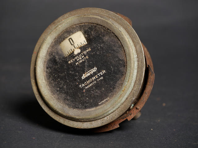 A very rare Stewart magnetic-type tachometer,