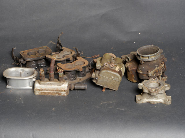 A quantity of Ford/Stromberg carburetor parts,