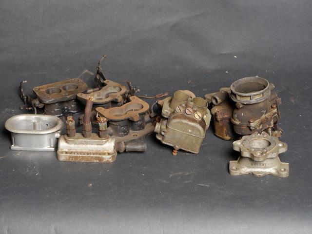 A quantity of Ford/Stromberg carburetor parts,
