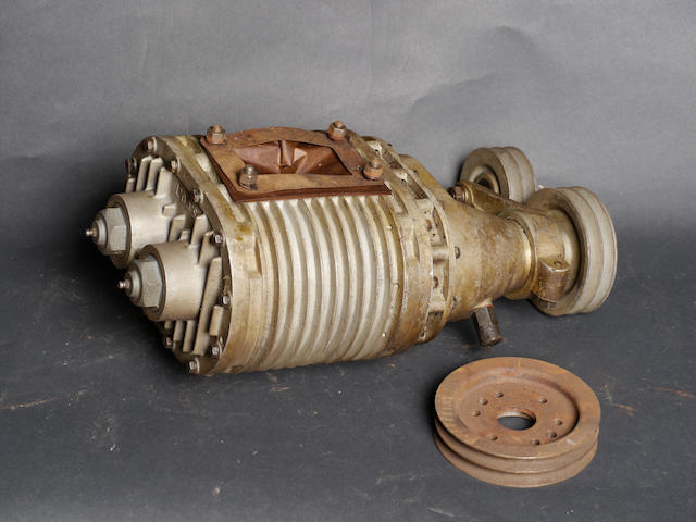 "A new old stock large Intermecchanica ""SCoT"" supercharger,"